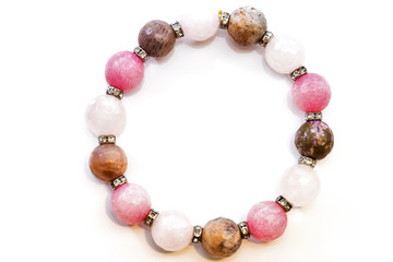 bracelet faceted stones