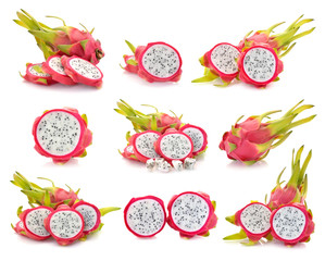dragonfruit isolated on white background
