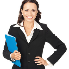 Businesswoman with folder