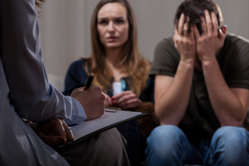 Infertile couple on psychotherapy