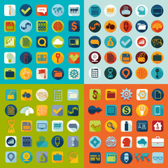 Set of flat icons