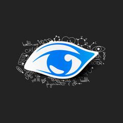 Drawing medical formulas: eye