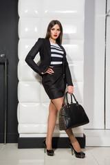 stylish girl with a bag