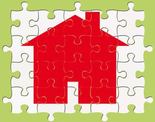 maison sur puzzle