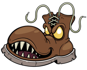 Vector illustration of Monster Boots