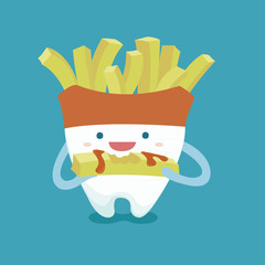 Tooth with french fries style
