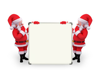 Santa Claus With display board