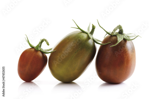 canvas print picture Tomaten, Black Plum, close-up