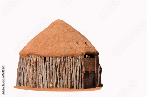 Foto op Canvas Droogte Traditional huts of himba people