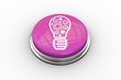 Composite image of light bulb with cogs graphic on button