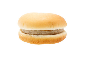 Pork burger isolated on white background