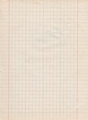 Page of vintage exercise book