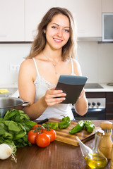 Woman going to cook the food