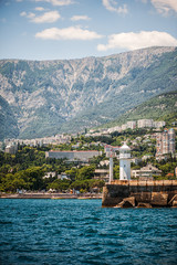 lighthouse on seafront of Yalta, Crimea