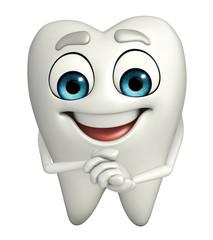 Teeth character is happy