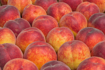 Farmers market peaches background 2