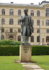 Prague.  Monument to the composer Antonin Dvorak