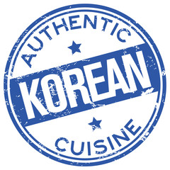 korean cuisine stamp