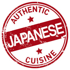japanese cuisine stamp