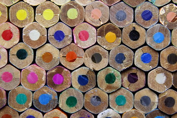 Crayons colored pencils back background