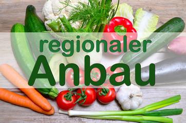 regionaler Anbau frisches Gemüse