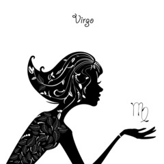 Zodiac sign virgo. fashion girl