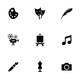 Fototapety art 9 icons set
