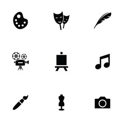 art 9 icons set