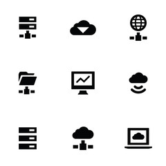 big data 9 icons set