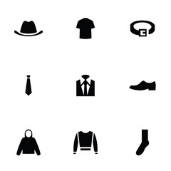man wear 9 icons set