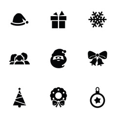 new year icons 9 icons set