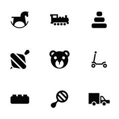 toys icons 9 icons set