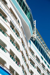 Decks on Curving Bulkhead of Cruise Ship