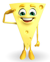 Cheese Character with salute pose