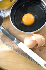 yolk ready for cooking