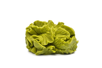 Wasabi isolated on white
