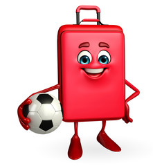 Travelling bag Chatacter with football