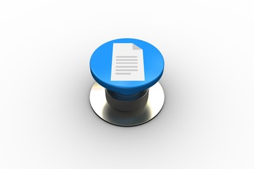 Composite image of document graphic on button