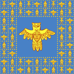vector seamless pattern Permian idol