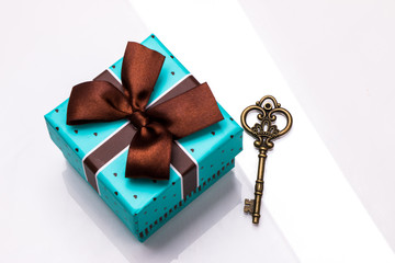 gift and vintage iron key