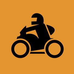 Motorcycle sign, vector