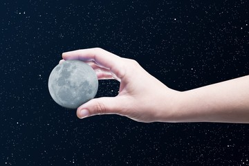Moon in a hand