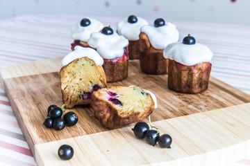 Blackcurrant gluten-free muffins