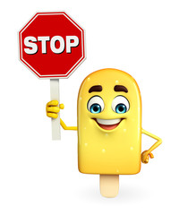 Candy Character With stop sign