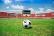 Soccer Stadium and football in the goal
