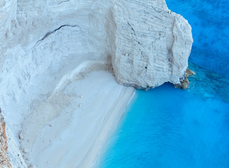 Beach with white sand (Zakynthos, Greece)