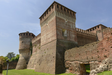Castle view from south moat, Soncino