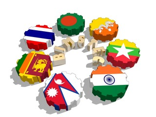 bimstec members flags on gears