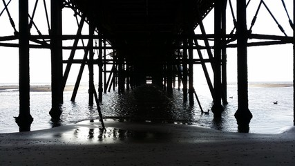 Underneath North Pier at Blackpool