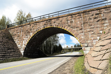 stone viaduct over the road